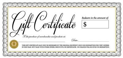 $100 Bella Gift Certificate Image